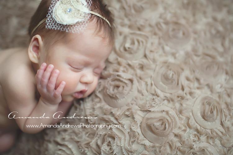 newborn sleeping with hands on cheeks boise idaho